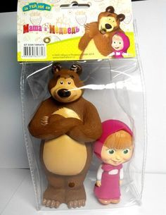 Masha and the Bear toys buy as cake toppers instead of fondant