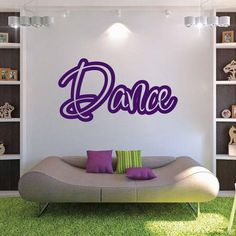 Spice up any room with our Dance Wall Decal. Great for dance studios! Available in over 40 colors.