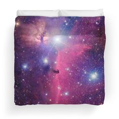 Purple Galaxy Duvet Cover (King Size) - Available Here: http://www.redbubble.com/people/rapplatt/works/8881930-purple-galaxy?p=duvet-cover