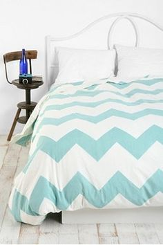 Zigzag Duvet Cover. Comes in gray, black, yellow, or aqua. $79 @ urban outfitters