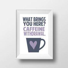 Coffee Quote from Gilmore Girls with Mug 8x10 #coffee #gilmoregirls