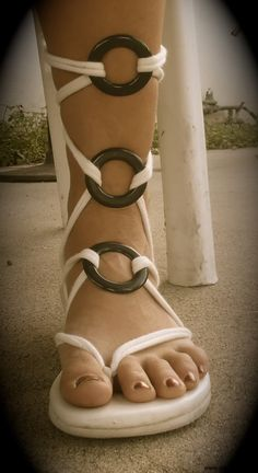 love this gladiator look with our interchangeable sandals!
