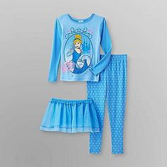 Disney Cinderella Toddler 3-piece tutu pajama set