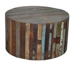 reclaimed wood chest as coffee table   Round Patchwork Reclaimed Teak Wood Coffee Table   SHOP NECTAR: Home ...