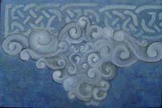 "Alejandro Vizcarra ""Nube iconizada "". 25cm x 35cm aprox óleo/tela."