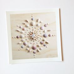 Print of original mandala design by Vicki Rawlins Original mandala design made completely of collected shells from the shores of the Atlantic A mandala is commonly known as a spiritual symbol represen Seashell Art, Seashell Crafts, Beach Crafts, Seashell Display, Creative Crafts, Fun Crafts, Arts And Crafts, Paper Crafts, Mason Jar Crafts