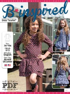 Dress SCARLET PDF Pattern + Tutorial - Sewing Patterns at Makerist