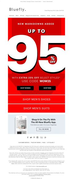 Bluefly - N E W M A R K D O W N S! Up To 95% Off Select Styles With Code WOW25