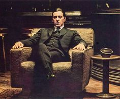 "Micheal Corleone, ""Godfather"", Al Pacino, ""The Godfather. Part II "", 1974 Godfather Quotes, The Godfather Part Ii, Godfather Movie, Corleone Family, Don Corleone, Mafia Gangster, Gangster Movies, Al Pacino, Clint Eastwood"