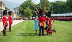 The Queen presenting new colours to the Nijmegen Company of the Grenadier Guards