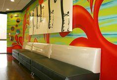 Custom Banquette Seating for Edmond Pediatric & Teen Dentistry, Edmond, OK