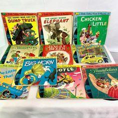 Little Golden Book Read Along w 33 rpm Record, Set of 11 Books Little Engine That Could, 60s Toys, Twelve Days Of Christmas, Needlepoint Pillows, Little Golden Books, Pink Velvet, Jingle Bells, I Am Happy, Little Boys