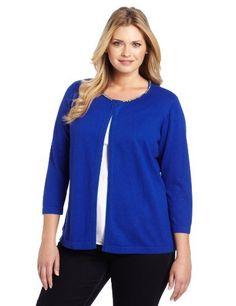 Jones New York Women's Plus-Size 3/4 Sleeve Cardigan Jones New York. $109.00. Cardigan. Made in China. Hand Wash. 40% Viscose/40% Nylon/20% Cotton. Neckline Detail
