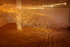 Return of the Soul by Jane Frere has found itself the centre stage of controversy even before the first of the 3,000 figures that form this installation is hung for its western debut at the Patriothall Gallery at WASPS during the Edinburgh Art Festival.
