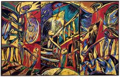 Philip Clairmont - Staircase Night Triptych - Auckland Art Gallery One of my greatest inspirations He is incredible and his work really speaks to me Auckland Art Gallery, Cobra Art, New Zealand Art, Nz Art, Maori Art, Modern Artists, Artist Painting, Art Lessons, Printmaking