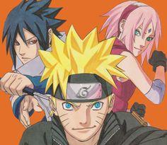 Uchiha Sasuke, Haruno Sakura and Uzumaki Naruto