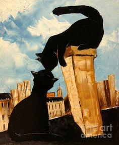 Black Cats On Paris Roofs by Atelier De Jiel