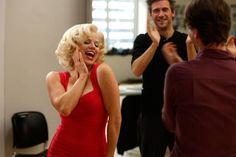 "SMASH -- ""Understudy"" Episode 110 -- Pictured: (l-r)  Megan Hilty as Ivy Lynn, Jack Davenport as Derek Wills"