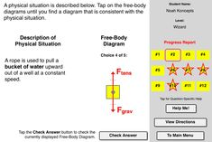 Change of state concept builder this interactive exercise match that free body diagram concept builder challenges a learner to utilize an understanding of force types in order to identify the free body diagram ccuart Gallery