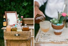 Drinks from Pharmacie at Ojai Inspired Wedding Shoot with Bash Please, Bryce Covey Photography, Yeah Rentals, and Found Vintage Rentals
