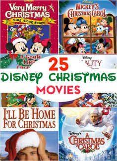 Can't wait for Christmas? Create your own Christmas movie countdown with these 25 Disney Christmas movies!