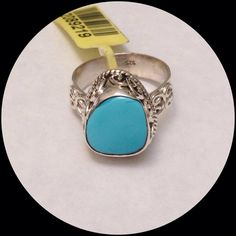 Arizona Sleeping Beauty Turquoise 2.66 CTS NEW Genuine 2.66 CT Arizona Sleeping Beauty Ring, Artisan Crafted in .925 Sterling Silver nickel free. Gorgeous cabochon setting. Size 8, can be sized up or down two sizes. The mine in Arizona has been closed and prices have risen 5000% in the past 5 years. This stone is a beautiful specimen. Pure, non included stones are growing rarer by the day. Keep that in mind when shopping for Arizona Sleeping Beauty. Some high end designers are even starting…