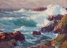 Edgar Alwin Payne. Laguna Coast, c. 1918. Oil on Canvas. 12 x 16.