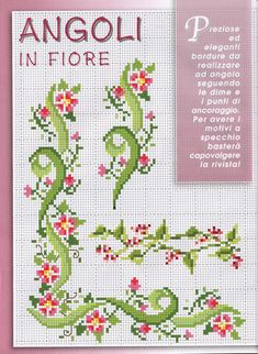 I can figure this out w/o the pattern cross stitch & needlep Cross Stitch Bookmarks, Cross Stitch Cards, Cross Stitch Borders, Cross Stitch Flowers, Cross Stitch Designs, Cross Stitching, Cross Stitch Embroidery, Embroidery Patterns, Hand Embroidery