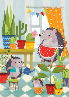 Просмотреть иллюстрацию Из жизни ежиков... из сообщества русскоязычных художников автора Елизавета Тихонова в стилях: Детский, нарисованная техниками: Компьютерная графика.