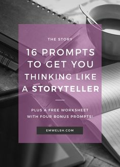 16 Writing Prompts to Help You Think Like a Storyteller |Are you looking for new writing prompts that challenge you to use your storytelling medium in an innovative way? Use these 16 writing prompts to challenge your storytelling abilities. There's four prompts in each medium – prose, screenwriting, playwriting & video game writing – with an explanation beneath each how to further understand the prompt! | writing prompt | storytelling prompt | creative writing prompt