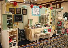 This is the CUTEST booth I have ever seen at a Craft Fair!! Love Funky Vintage Lovely!