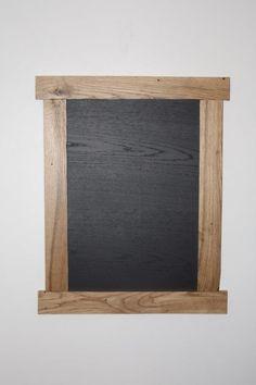 Oak pallet board chalk board.