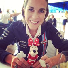 Claire Williams and Minnie Mouse Martini Racing, Red Bull Racing, Formula One, Grand Prix, Claire, Ferrari, Minnie Mouse, Mini Mouse