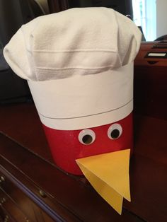 The Little Red Hen (Makes a Pizza) Hat for the school's book parade.no instructions, but it looks easy enough to make! Preschool Centers, Preschool Books, Preschool Classroom, Literacy Activities, Classroom Themes, Winter Activities, Kindergarten Art Lessons, Kindergarten Language Arts, Kindergarten Rocks