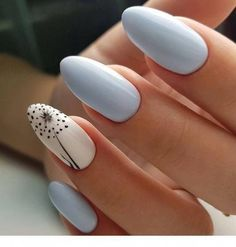 Nail art is one of many ways to boost your style. Try something different for each of your nails will surprise you. You do not have to use acrylic nail designs to have nail art on them. Here are several nail art ideas you need in spring! Nail Designs Spring, Gel Nail Designs, Nails Design, Blue Nails, White Nails, Red Nail, Hair And Nails, My Nails, Prom Nails
