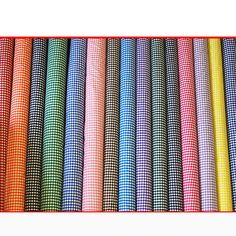 Gingham POLYCOTTON FABRIC - 1/4 Inch Check - per 1m METRE - 114cm / 45  Wide