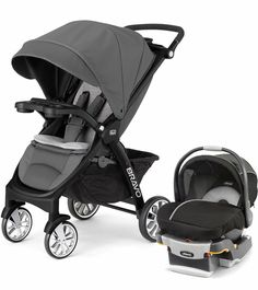 Chicco Bravo Trio LE & Keyfit 30 Travel System - Coal