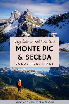 Wonderful hike to the summit of Monte Pic, above Santa Cristina in the Italian Dolomites. Combine this hike with the Seceda ridgeline and the Sëurasas mountain pastures for an epic adventure. No cable car needed. #valgardena #dolomites #northernitaly #hiking #southtyrol #italianalps #alps #europehiking #seceda Hiking Europe, South Tyrol, Mountain Hiking, Northern Italy, Day Hike, Outdoor Woman, Adventure Is Out There, Amazing Destinations, Travel Guides