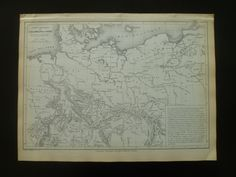 Old river map of German empire 1883 original by DecorativeMaps, €12.95