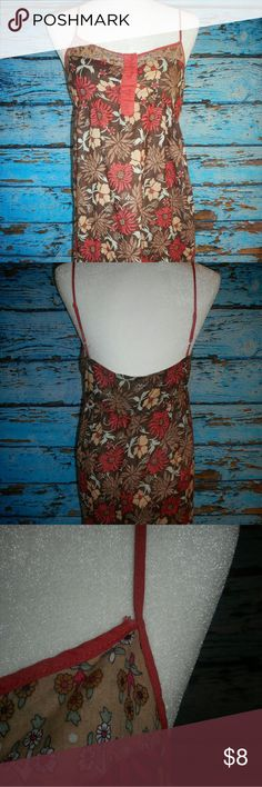 Mossimo Floral Dress Size Large I have this dress listed pretty cheap because it does have a few flaws. As you can see from the pictures the stitching is coming apart in some places. This dress measures approximately 32.5 inches down the back. It measures approximately 16 inches pit to pit. Mossimo Supply Co Dresses