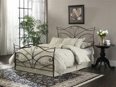 Papillon Full Duo Panel in Brushed BronzeFashion Bed Group B15964 = Meg