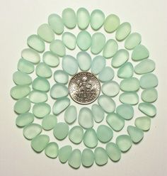 Ocean Jelly Beans tiny/small (60+) Aqua Sea foam Jewelry Quality Genuine Beach Sea Glass from Ft Bragg (A5) - pinned by pin4etsy.com