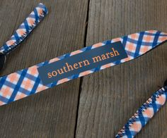 Southern Marsh Sunglass Strap in Orange with Navy Southern Belle Style, Prep Life, Southern Marsh, Pattern Making, Pretty Outfits, Sunglasses, My Style, Bright Colors, Fishing Trips