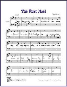 The First Noel | Free Sheet Music for Easy Piano by wavemusicstudio, via Flickr