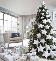 When it comes to decorating, my favourite part is the TREE. I love to create a beautiful Christmas tree. Here is the Ultimate christmas tree Inspiration! Pre Lit Christmas Tree, Gold Christmas Decorations, Beautiful Christmas Trees, Christmas Tree Themes, White Christmas, Christmas Diy, Christmas Ornaments, Holiday Decor, Christmas Trends