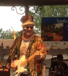 Joe King Carrasco actually left Puerto Vallarta to come play the Santa Fe Plaza!