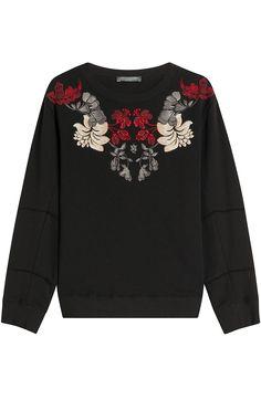 ALEXANDER MCQUEEN Embroidered Cotton Sweatshirt. #alexandermcqueen #cloth #sweatshirts