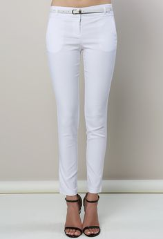 mid rise belted pants