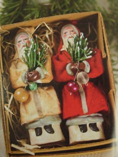 Old Belsnickles...stuffed in a box...with pine.