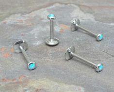Labret piercing Tragus oreja conector epoxy ferido multi cristal Helix cartilage